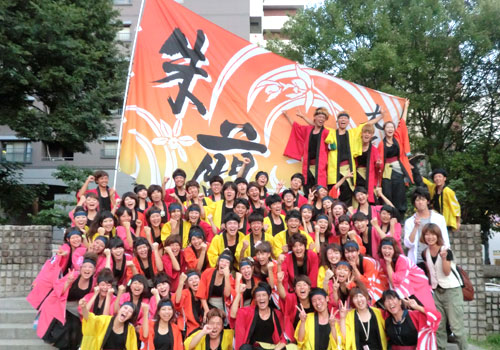 大阪市立大学よさこいチーム朱蘭様お写真