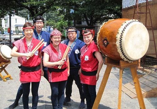 埼玉県かじ兵衛様の太鼓用袖なし法被お写真