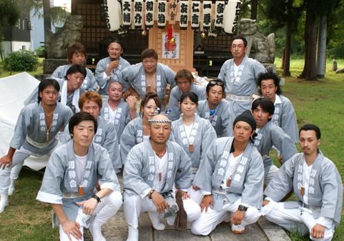 新潟県の川神會様の神輿半纏お写真