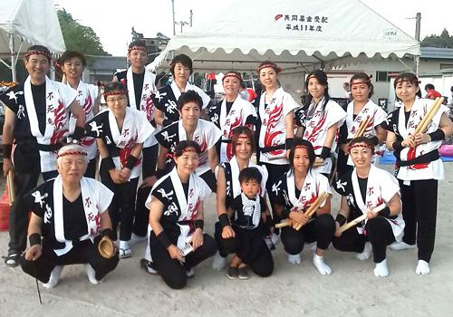 滋賀県の太神太鼓様の太鼓衣装お写真