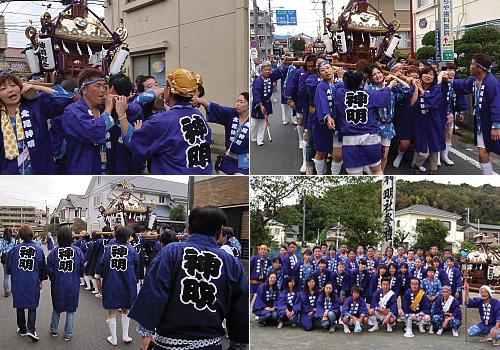 神奈川県の吉屋様の神輿半纏お写真2012