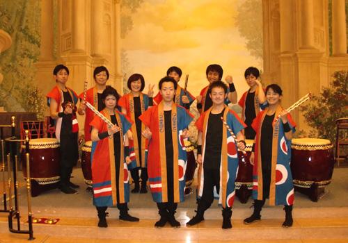 埼玉県の和太鼓衆「鼓榮」様の太鼓半纏衣装お写真
