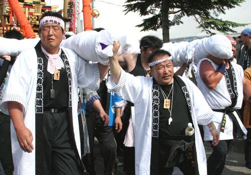 稚内地方柔道連盟様の神輿半纏お写真