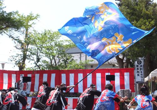 千葉県の南総みよし烈華隊様のよさこい旗のお写真