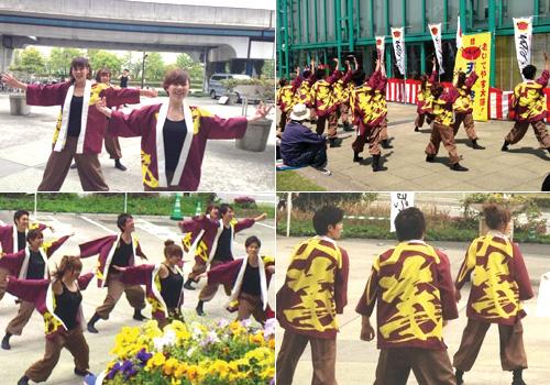 大阪府のよさこいチーム友義様のよさこい法被お写真