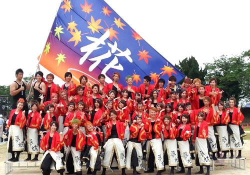 滋賀大学よさこいサークル「椛」様のよさこい旗のお写真