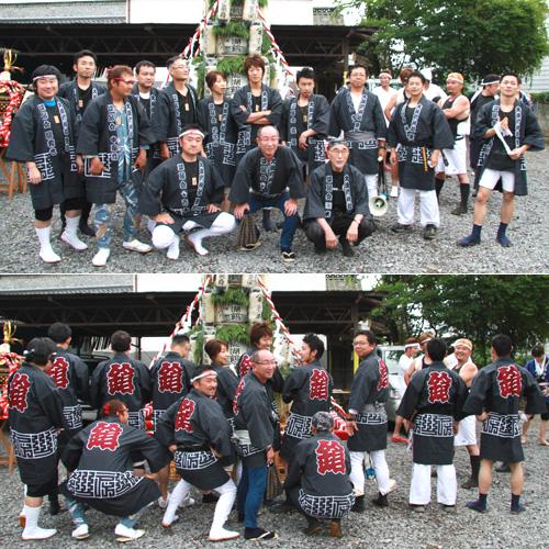 長野県の柳沢様の神輿半纏お写真