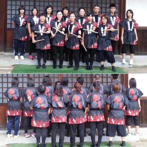 岡山県の竜王太鼓様の飾り袖半纏のお写真