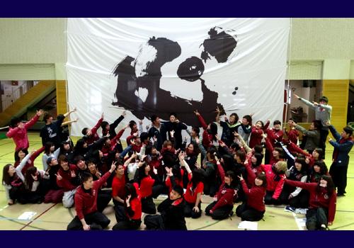 心~sin~釧路学生魂様から旗のお写真が届きました(2014年3月)