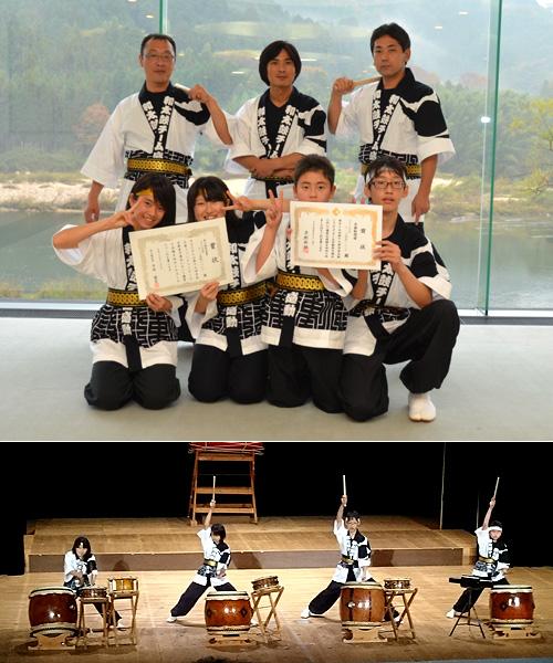 京都府の和太鼓チーム感動の法被お写真