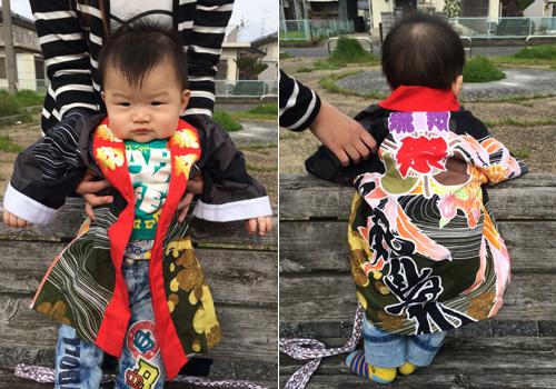 滋賀県の加藤様の子供半纏