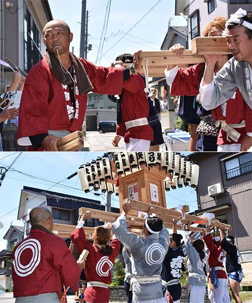 新潟県の川神會様の神輿半纏
