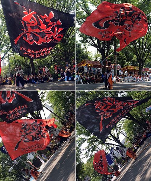 武州武蔵様のよさこい旗お写真
