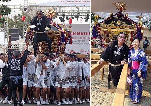 ジャカルタ三嶋様の神輿半纏の写真