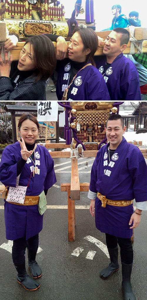 昇龍祭太鼓様の神輿半纏お写真
