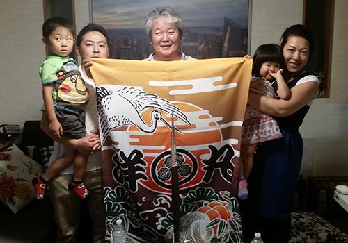 東京都大高様の大漁旗柄暖簾お写真