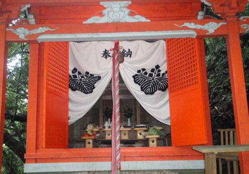 和歌山県の津荷区協議会様の神社幕