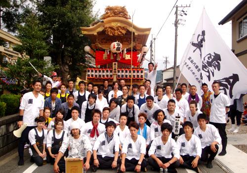 静岡県の家山八幡宮東雲会様の会旗