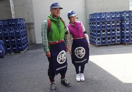 堺屋醤油株式会社様の帆前掛けの写真