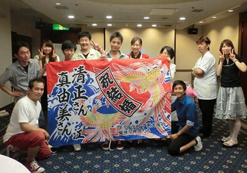 ホテルウイング新大阪様の大漁旗の写真