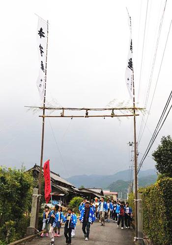 愛媛県の青野様の神社幟