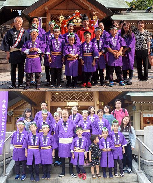 石浜神社様の神輿半纏のお写真