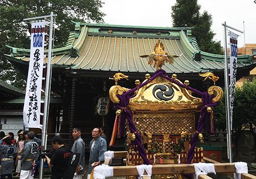 東京都八雲神社様の神社幟の写真
