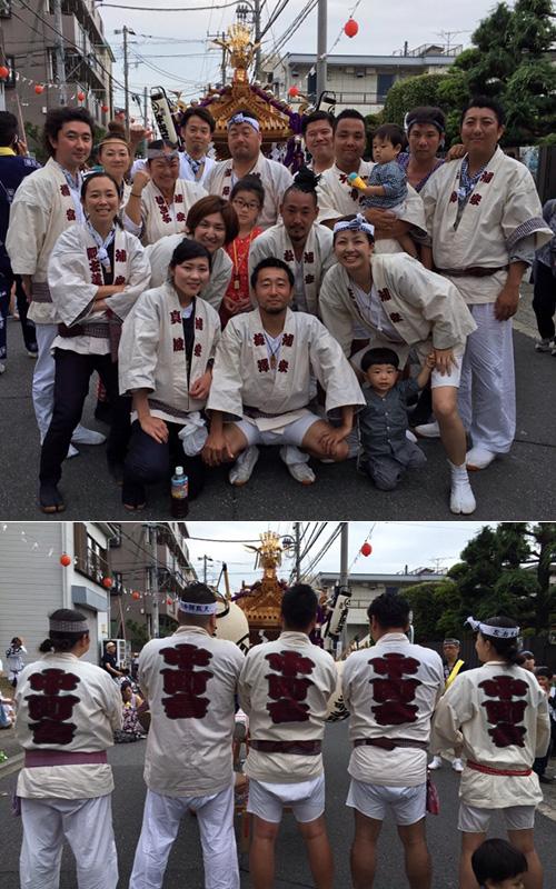 中町會様の神輿半纏の写真