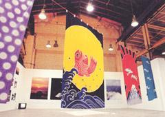 上遠野様の大漁旗の写真