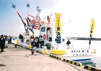 北海道の小林様の大漁旗柄のぼり