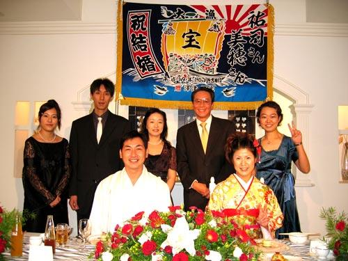千葉県澤津様の大漁旗の写真