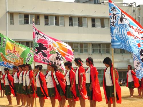 堺市立月州中学校様の体育祭での大漁旗