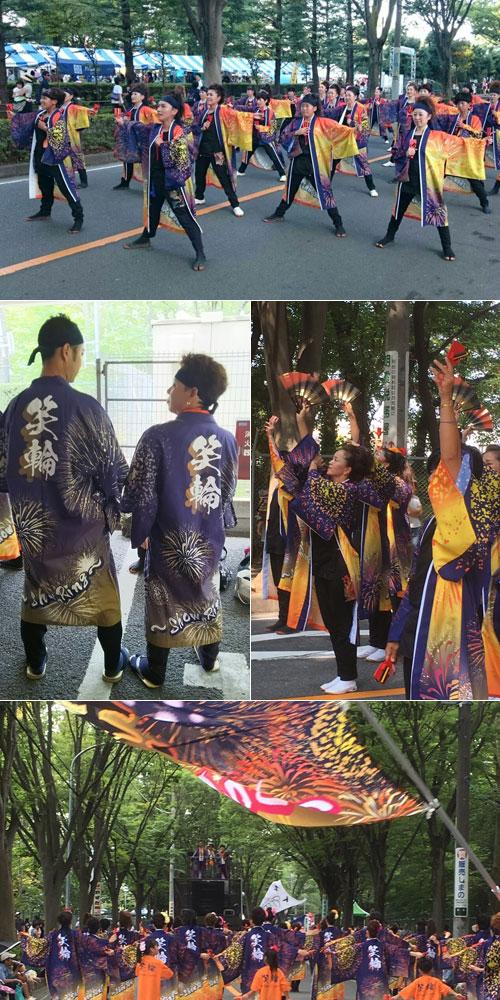 埼玉県笑輪様のよさこい衣装と旗の写真