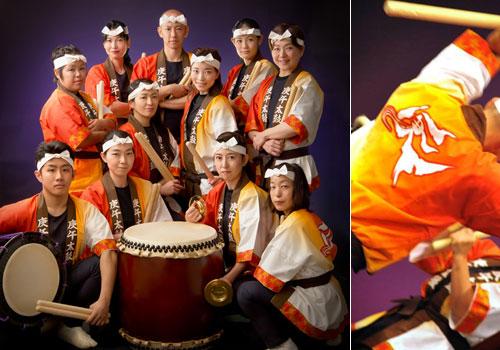 広島庚午太鼓団様の太鼓半纏の写真