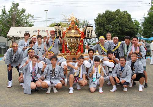 神奈川県川神輿連様の神輿半纏の写真2016