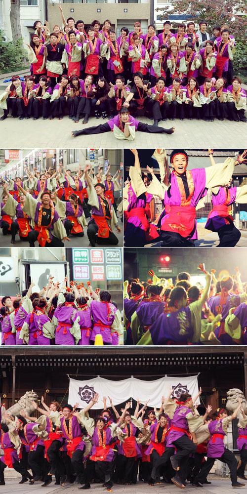佛教大学よさこいサークル紫踊屋様のよさこい衣装の写真2016