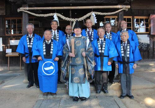 岡山県の一王子神社様の半纏