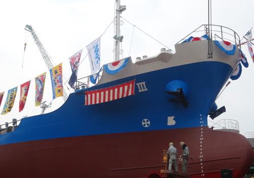 福岡県ニッスイマリン工業株式会社様の大漁旗の写真