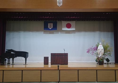 静岡県の浜松聖星高等学校様の校旗の写真