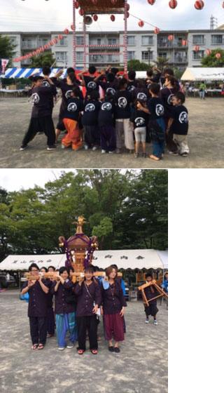 神奈川県夏山太鼓様の鯉口シャツの写真