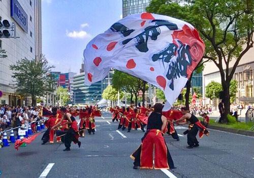 岐阜県の覇王一様のよさこい旗