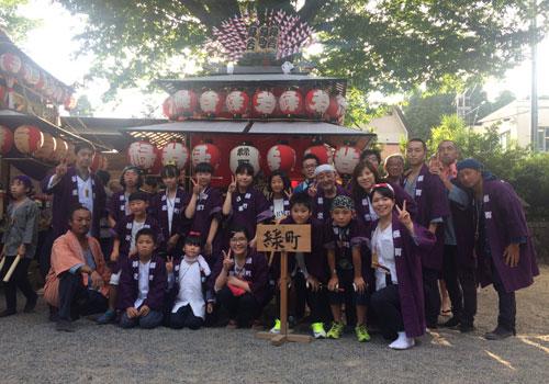 福島県の緑町町内会様の神輿半纏