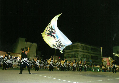 愛媛県の丸住連様の旗