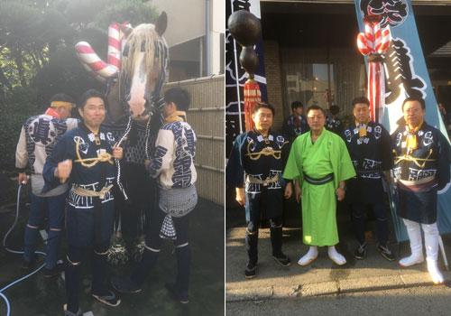 熊本県舛田様の神輿半纏の写真