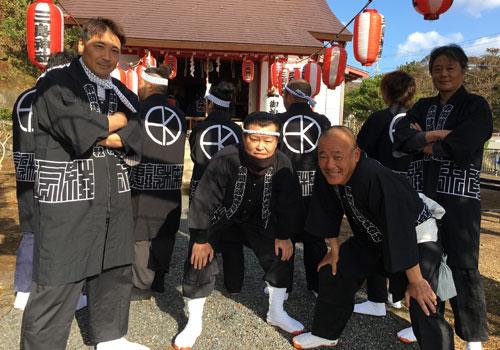 東京都の赤間建設株式会社様の神輿半纏