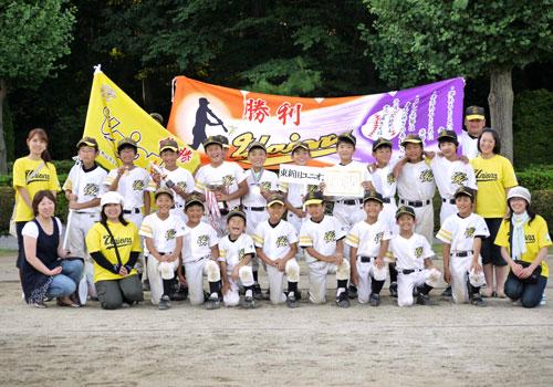 東新田ユニオンズ様の応援旗の写真