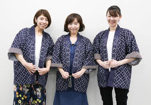 東京都のコイニー株式会社様の総柄半纏・法被