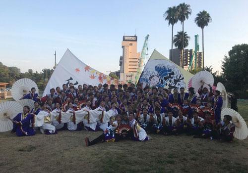 四天王寺大学YOSAKOIソーラン部仏喜踊様のよさこい旗