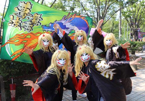 埼玉県の舞秀波様のよさこい衣装と旗