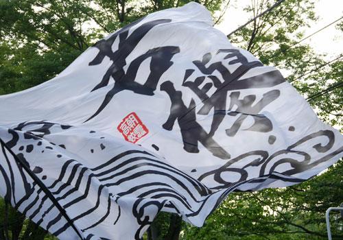 埼玉県の朝霞高校若欅様のよさこい旗